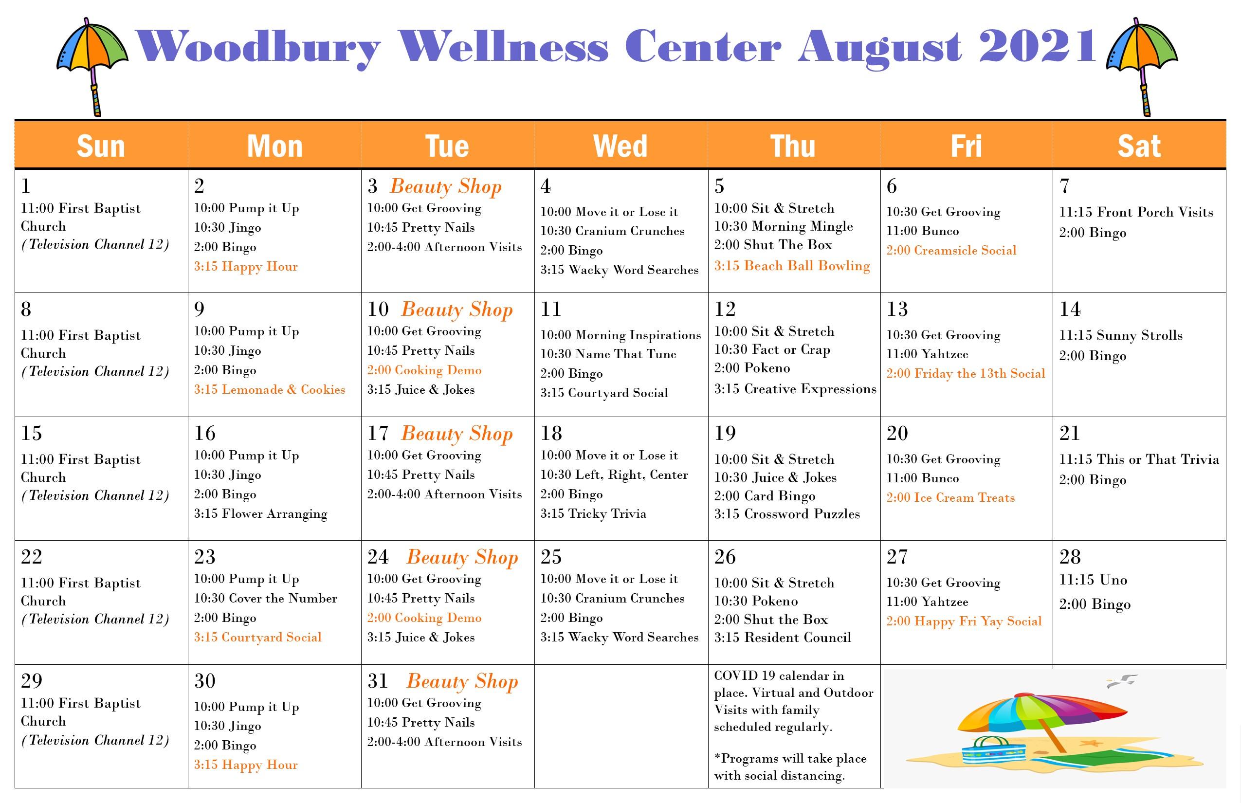 Woodbury August 2021 Newsletter